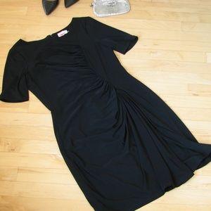 Calvin Klein little black dress ruched sheath
